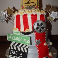 Movie Star All decorarions made in fondant and is completely edible