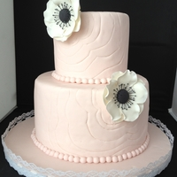 Anemone Pink Cake   Client gave photo of a Cake Girls cake and asked to replicate.