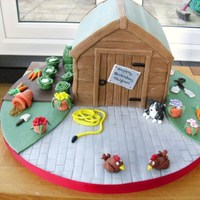 Garden Shed Birthday Cake Made for someone who loves his garden!