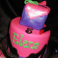 Fashion Themed Cake 3D Purse On Top   Fashion themed cake. 3D purse on top.