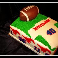 Kids Football Team Cake Mustangs   Kids football team cake 'Mustangs' .