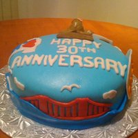 Sf Anniversary Cake! A cake request for sending their parents to SF for their 30th anniversary!