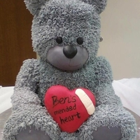 Ben's Teddy I did this cake for Icing Smiles, a great non-profit organization. The recipient was Ben, a little boy who was born with heart defects and...