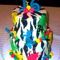 Zebra Paintball Cake