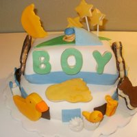Cookies Baby Shower Cake