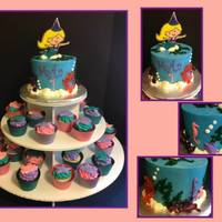 Mermaid Cake Amp Cupcake Tower Mermaid Cake & Cupcake Tower