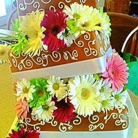 Topsy Turvy Square Wedding Cake Topsy Turvy square wedding cake