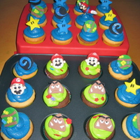 Mario Galaxy My son is obsessed with Mario, so of course chose Mario Galaxy for cupcakes to take to school. Then I had to make a Mario Galaxy cake for...