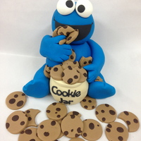 Cookie Monster 15cm cookie monster (with rice krispy treat in the tummy)