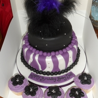 Purple Black  Feathers