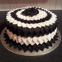 Black And White Leaf Cake Black and white 'leaf' cake