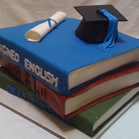 Graduation Book all fondant. bought the S. Zambito book DVD. this is my second book i made. the first came out great and finished in no time. Everything...
