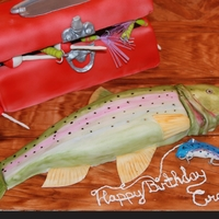Gone Fishin' All cake, fondant, or rice paper. :)