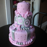 Pink And Silver Sweet 16 Birthday Cake