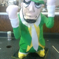 Notre Dame Fighting Irish Man   My take on the Pink Cake Box 3D Fighting Irish Man.