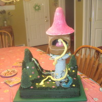 Tangled Repunzel Cake Cousin wanted a Tanged Repunzel tower cake. Got the inspiration from another member on the board. Roof of tower did not come out as I had...