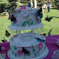 Butterfly Birthday Cake I made for my sister for her birthday