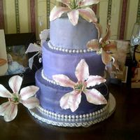 Loved This Cake Buttercream Is Dyed Different Colors Gum Paste Lilies Made For My Best Friends Birthday Party LOVED this cake. Buttercream is dyed different colors, gum paste lilies. Made for my best friends birthday party