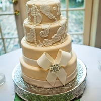 Classy Wedding Cake Wedding cake modeled after the bride's dress.