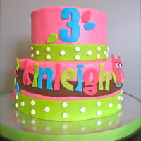 Kinleigh's 3Rd Birthday Cake Owl cake for a little girl's 3rd birthday party.