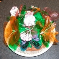 Gelatin Flower Basket Cake Ghiradelli Chocolate Cake, with Buttercream icing. Practice fun cake