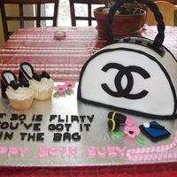 Purse Cake And Cupcake Shoes Chanel Purse Cake with Cupcake shoes