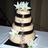 Fondant Covered Swirl Design