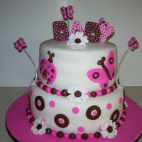 Pink And Brown Shower Cake