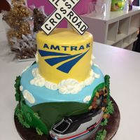 Amtrak Retirement Cake