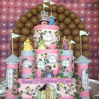 Disney Princess Castle This 3 tier castle cake was done for a little girls birthday.