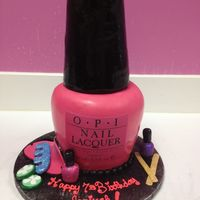 Opi Pink Nail Polish Bottle Spa Themed Birthday The bottle is all cake. No Rice Krispies or stirofoam
