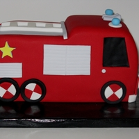 Fire Engine Cake First ever attempt at a 3D cake.
