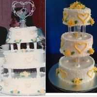 Recreation Of Wedding Cake For 25Th Anniversary   *Recreation of wedding cake for 25th anniversary