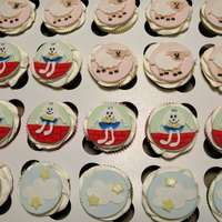 Nursery Rhyme Cupcakes   I did these for my friends, sister-in-law's baby shower.
