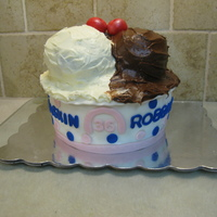 Baskin Robbins Birthday Cake   I put 36 instead of 31 because of the persons age.The ice cream balls are cake.