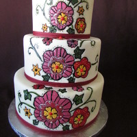 Folk Art Painted Cake