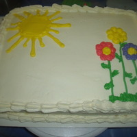 Goodbye Cake This cake was made for a co-worker's going away party. I got the idea from another web site. The cake is vanilla cake with vanilla...