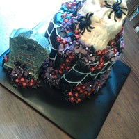 Spiders And Skulls The cake is White Russian flavored (Kaluha and Vodka infused). The skull is Red Velvet cake sculpted to resemble a skull and covered in...