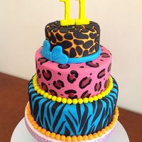 Birthday Girly Colorful Animal Prints Cumpleanos Ninas Birthday, girly, colorful, animal prints, cumpleaños niñas,