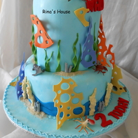 A Finding Nemo Themed Cake....vanilla Sponge Cakes, Top Tier Is 6'' High, All Fondant Decorations. Tfl :)