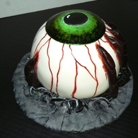 Creepy Eyeball Had to make one of these awesome cakes! Thanks to all the CC members who inspired me!