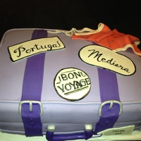 Portugal, Here We Come! Couple is going to Mediera, Portugal on their honeymoon. They requested the suitcase to be purple.