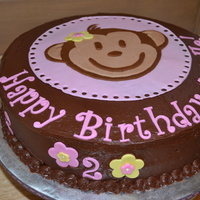 Monkey Birthday Made this cake for a friend's daughter's 2nd Birthday. Chocolate cake with chocolate frosting. Fondant decorations. Inspired by...
