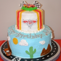 Cars Made this Cars cake for my son's 4th birthday party