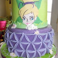 Tinkerbelle Inspired New technique I learned from cakes decor, only I changed the original design of the bottom tier to have a two tone look. The bottom tier is...