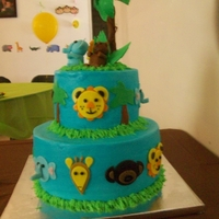 Baby Jungle Animal Cake Baby Jungle Animals