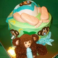 Baby Butt With Monkey Baby Shower Baby butt and feet with baby monkey