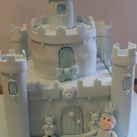 Blue Fairytale Castle Inspired by Debbie Brown.....although nowhere near as gorgeous as hers!! Made for my son's 1st birthday,