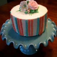 Mothers Day Cake With Royal Icing Flowers