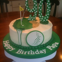 A Golf Cake For A 90Th Birthday Golf theme birthday cake